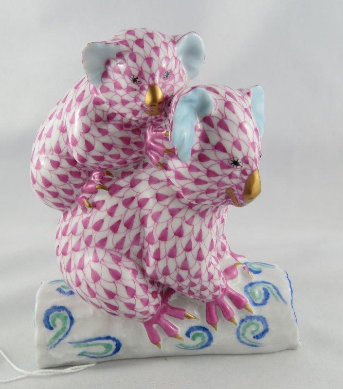 Herend Porcelain Group of Koala Group