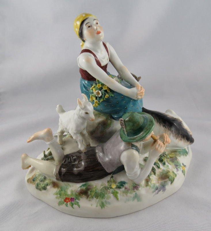 Antique Meissen Porcelain Group