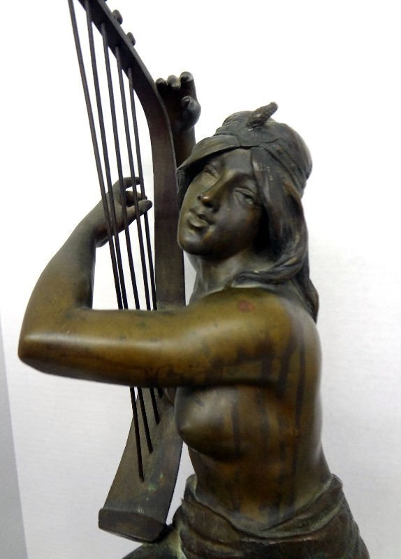 Coudray Bronze Figure of Nude Lady - 6