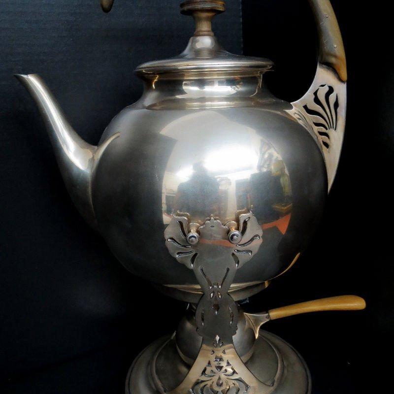 Austrian Hungary Tea Kettle & Stand 800 Silver