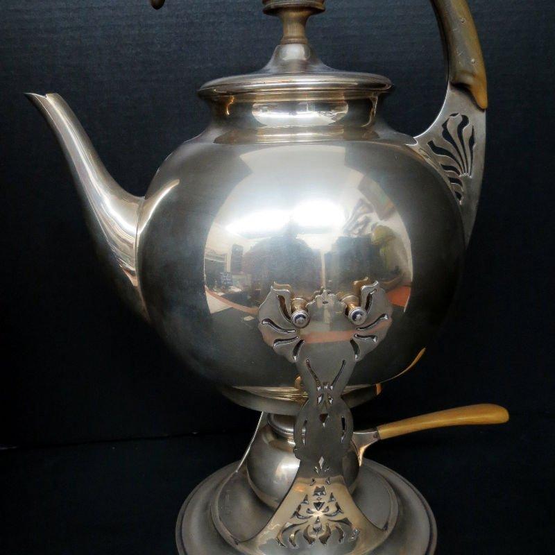 Austrian Hungary Tea Kettle & Stand 800 Silver - 4