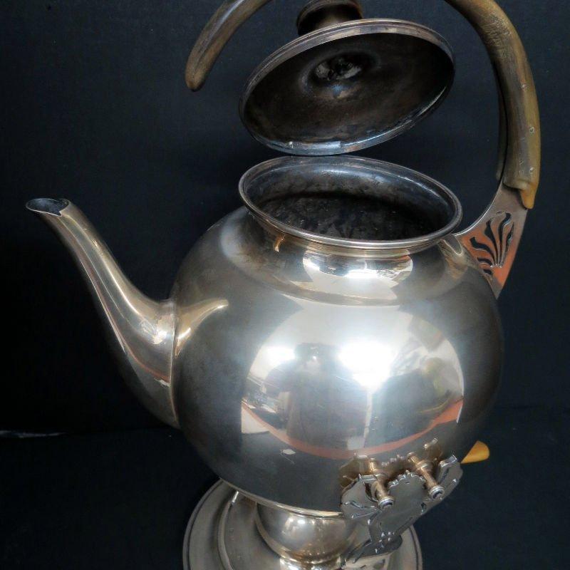Austrian Hungary Tea Kettle & Stand 800 Silver - 5