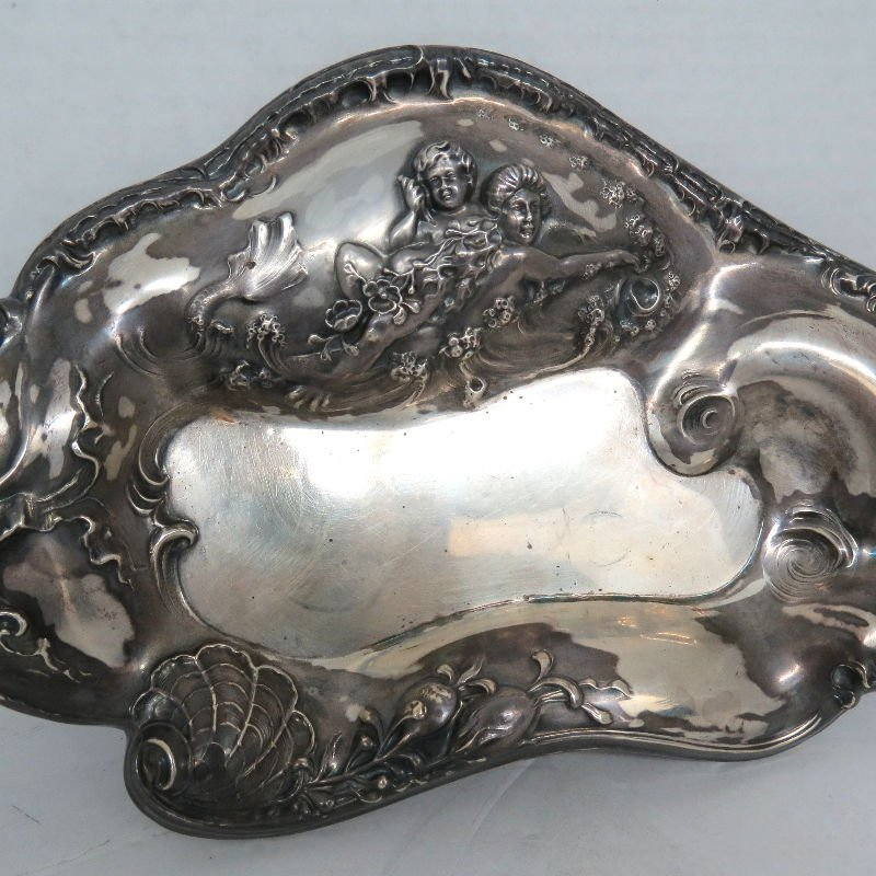 Art Nouveau Sterling Figural Trays