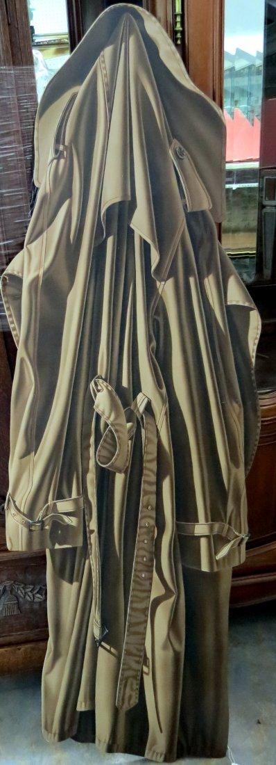 """Otto Duecker (b. 1948 American) Oil on Masonite """"Trench"""