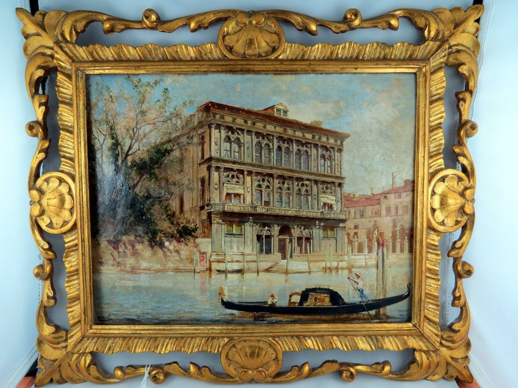 Umberto Cacciarelli Italian (1880-1910) Venice Scene