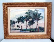 Jane Peterson (American 1876-1965) Watercolor