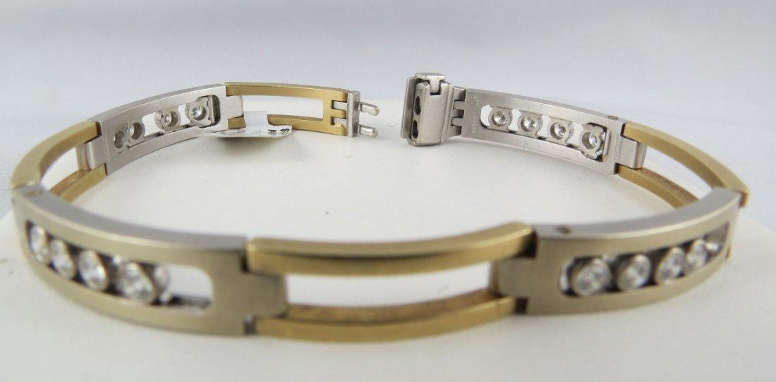 14Kt YG Men's Diamond Bracelet