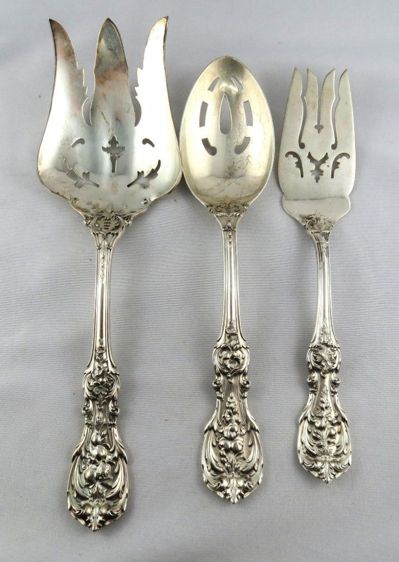 3 Pc. Reed & Barton Francis 1st Sterling Silver Serving