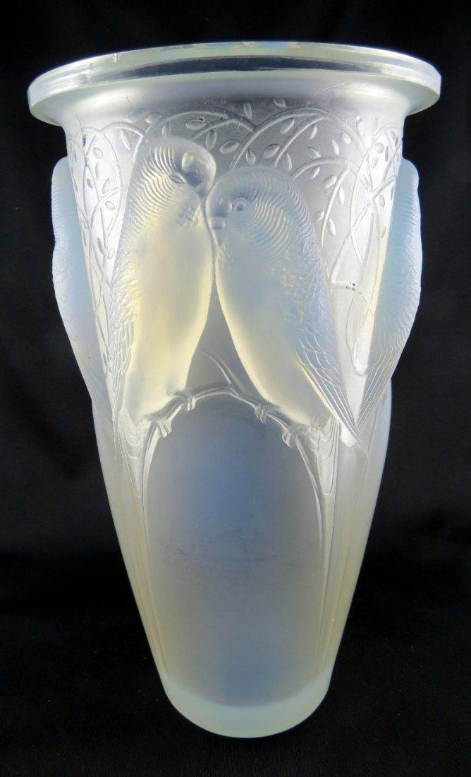 Rene Lalique Opalence Ceylan Vase Circa 1924