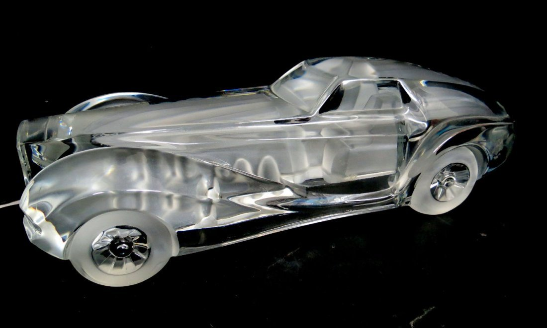 Daum French Crystal Coupe Riviera Signed Car