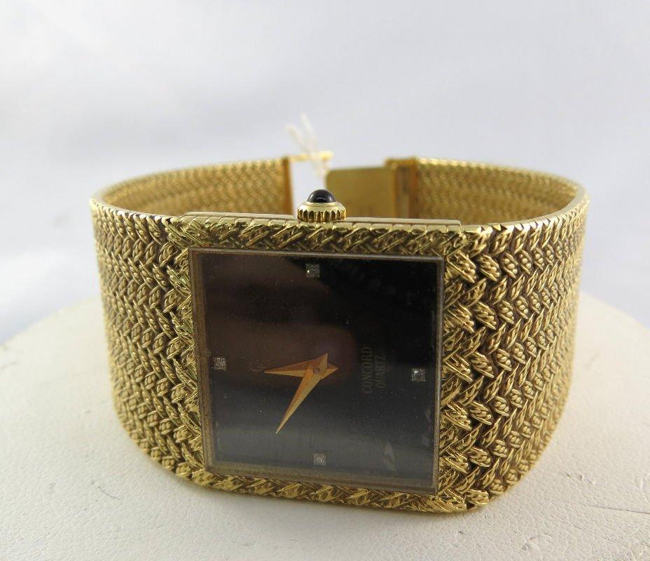 18Kt YG Men's Concord Quartz Watch