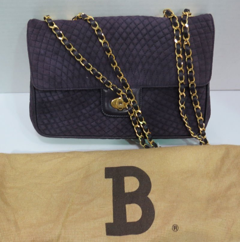 Genuine Bally Suede Quilted Purse