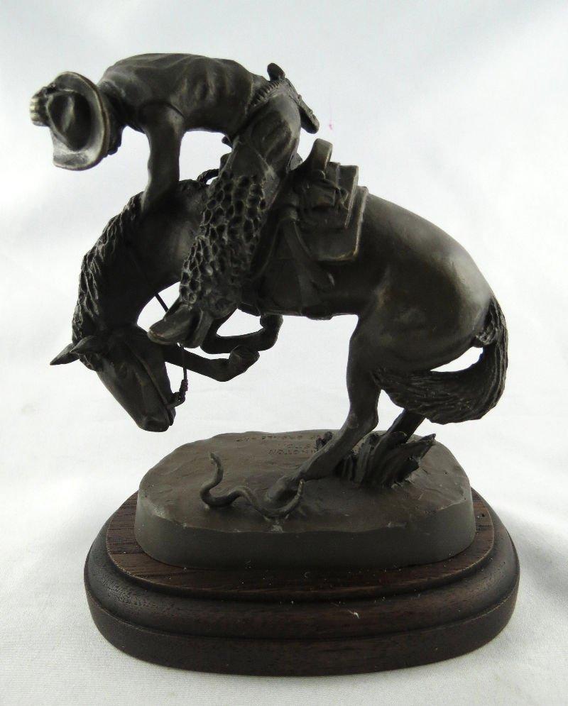 "Frederic Remington ""Rattle Snake"" Miniature Bronze"