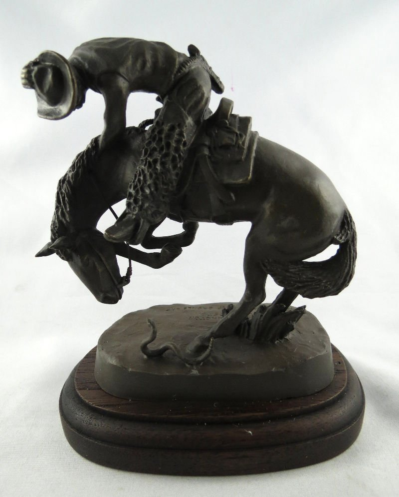 "Frederic Remington ""Rattle Snake"" Miniature Bronze"