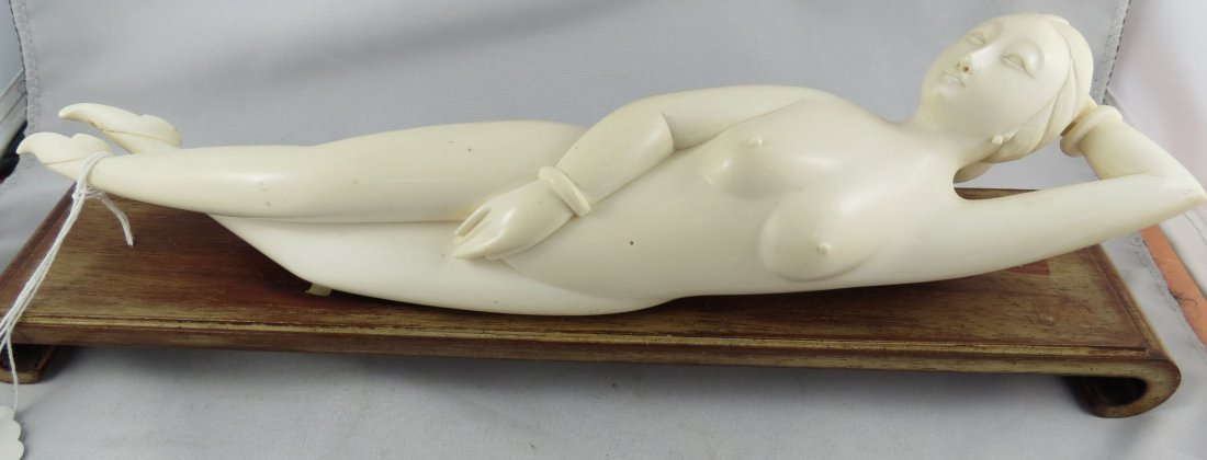 Antique Chinese Hand Carved Ivory Doctor Lady