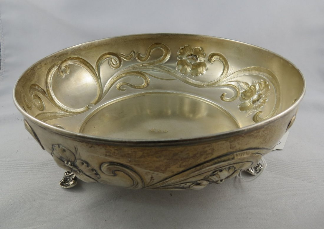 Austrian Hungarian Sterling Silver Footed Bowl
