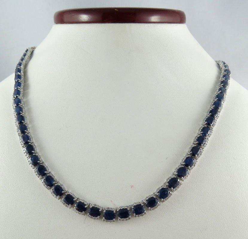 Michael Christoff 14Kt WG 39.70ct Blue Sapphire &