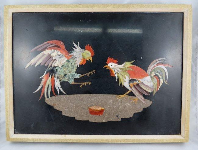 Antique Pietra Dura Plaque