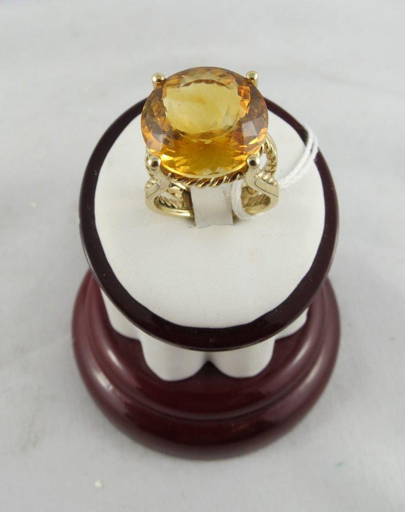 14Kt YG 10.00ct Citrine Ladies Ring