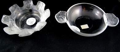 2 Pc Lalique Crystal Pieces