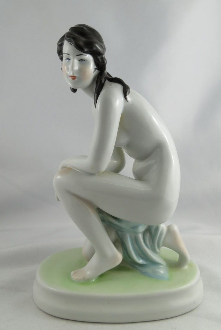 Zsolnay Porcelain Figure
