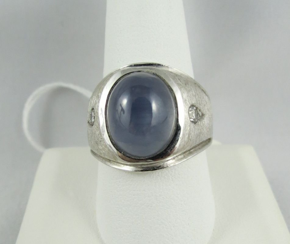 14Kt Gents Star Sapphire Ring