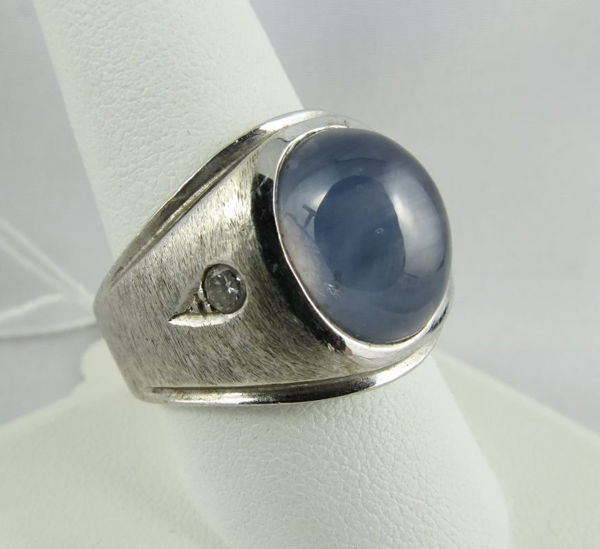 14Kt Gents Star Sapphire Ring - 2
