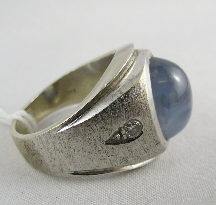 14Kt Gents Star Sapphire Ring - 3