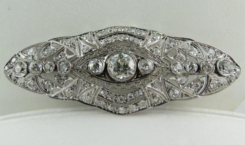 Impressive Art Deco Diamond Brooch