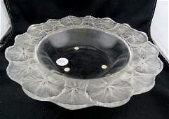 Lalique Honfleur Crystal Bowl