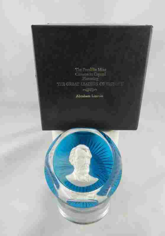 """Franklin Mint The Great Leaders of History """"Abraham"""