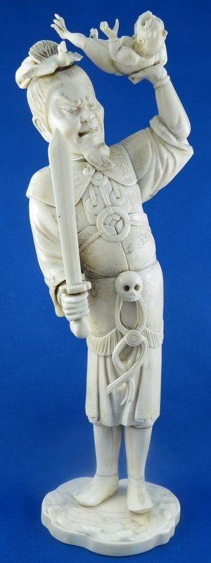Unusual Rare Chinese Ivory Figure