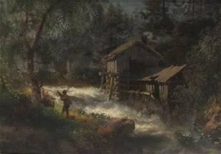 Hermann Herzog (German/American 1832-1932) Painting