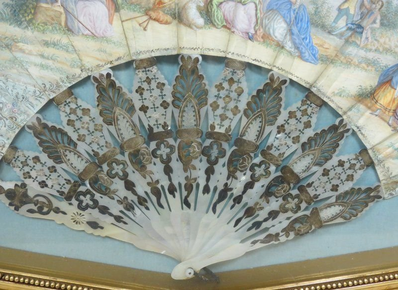 Antique Victorian Hand Painted Fan - 4