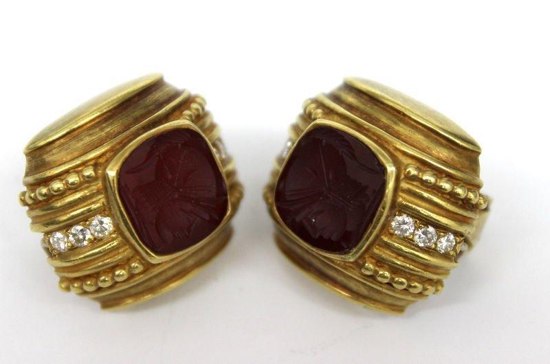 Judith Ripka 18Kt YG Earrings