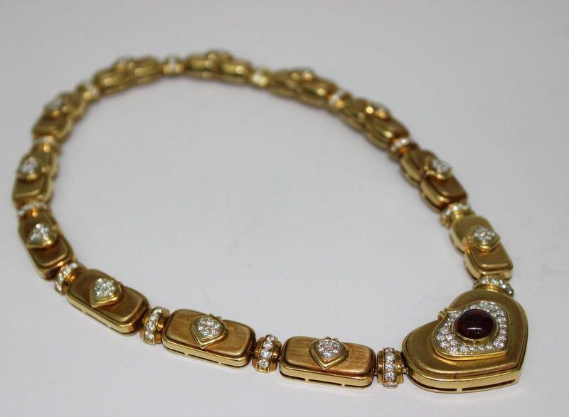18Kt YG Harry Winston Diamond Necklace