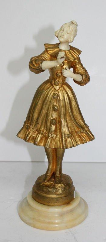 C. Omert Gilt Bronze & Ivory Figure