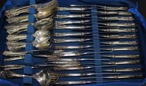 97 Pc Wallace Grand Baroque Sterling Silver Flatware