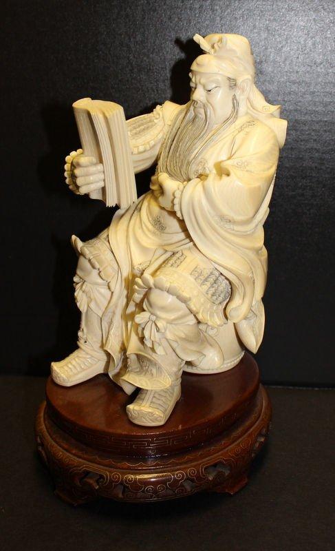 Chinese/Japanese Carved Ivory Samurai
