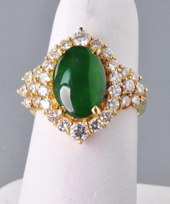 Exquisite Contemporary Natural Jadeite Jade Diamond