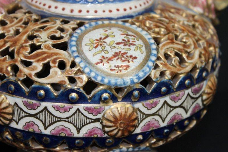 Antique Fischer J. Budapest Porcelain Ewers - 2