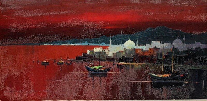 Harry Winkler (German 1923) Oil Painting
