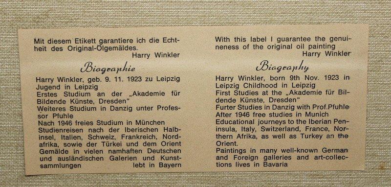 Harry Winkler (German 1923) Oil Painting - 6