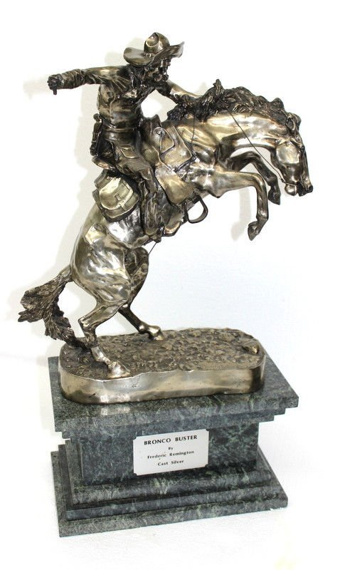 Frederic Remington Bronco Buster in Sterling Silver (6