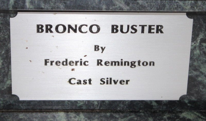Frederic Remington Bronco Buster in Sterling Silver (6 - 5