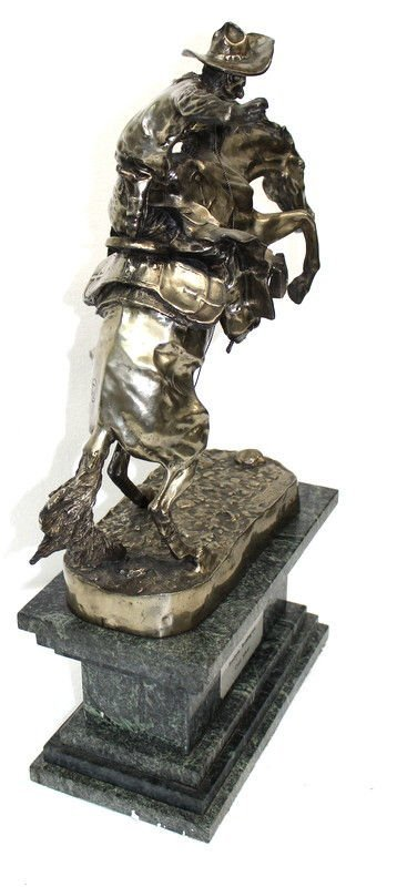 Frederic Remington Bronco Buster in Sterling Silver (6 - 6