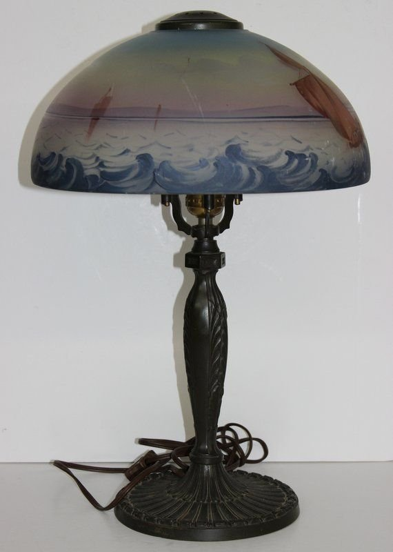 Early Plb Amp G Co Pittsburgh Lamp Amp Shade