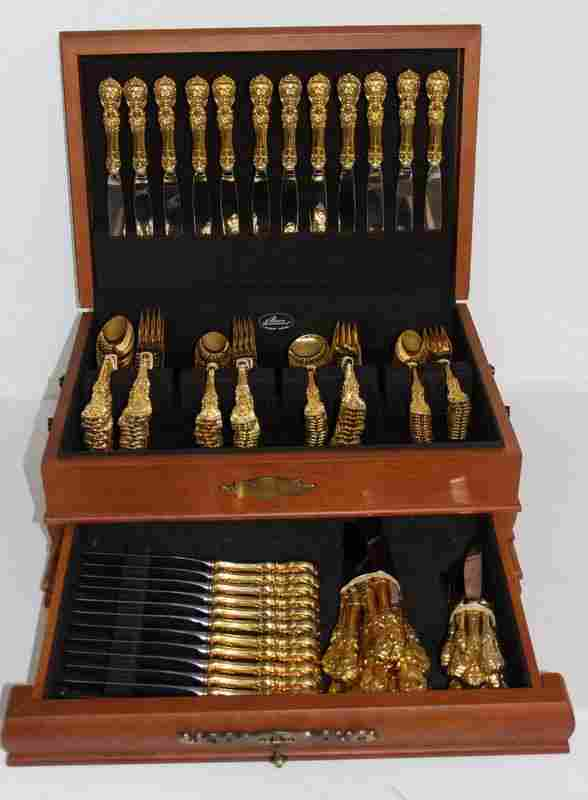 143 Pc. Reed & Barton 'Francis 1st' Gold Vermeil