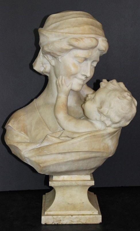 Antique Guglielmo Pugi (Italian 1870-1915) Alabaster