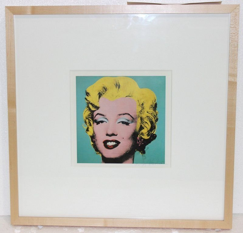 """Original Signed Andy Warhol """"Turquoise Marilyn 1962"""" - 2"""